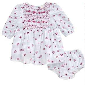 NWT Tucker + Tate Smocked Front Dress 0-3 Months